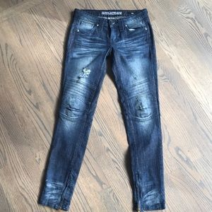 Affliction (Buckle) Skinny Moto Jeans